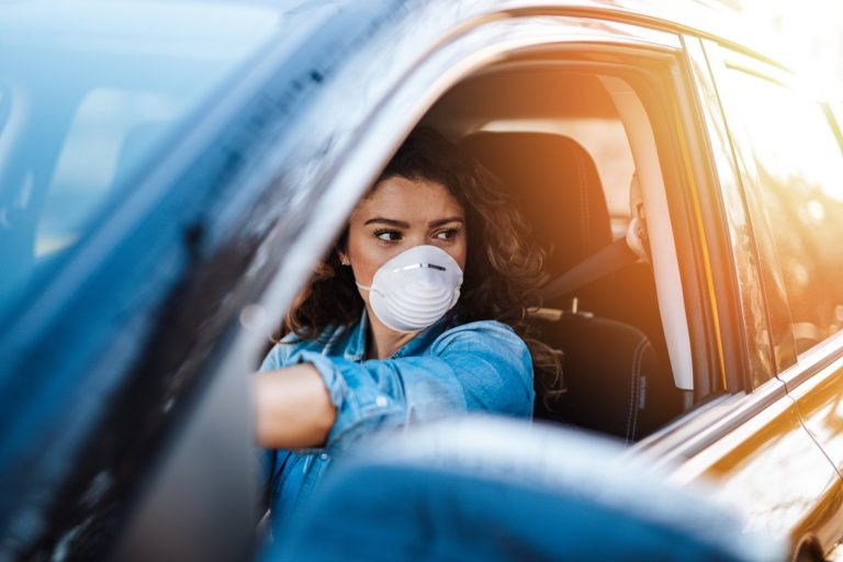 Pollutants inside Vehicles